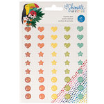 American Crafts - Box of Crayons Collection - Enamel Dots with Glitter Accents