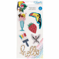 American Crafts - Box of Crayons Collection - Self Adhesive Patches