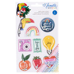 American Crafts - Box of Crayons Collection - Glitter Shaker Stickers
