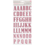 American Crafts - Thickers - Glitter - Alphabet - Pink