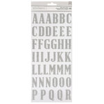 American Crafts - Thickers - Glitter - Alphabet - Silver
