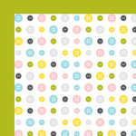 American Crafts - Baby Collection - 12 x 12 Double Sided Paper - Peek-A-Boo, CLEARANCE
