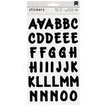 American Crafts - Stickers - Alphabet - Brush - Black