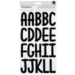 American Crafts - Stickers - Alphabet - XL Script - Black