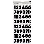 American Crafts - Stickers - Numbers - Black
