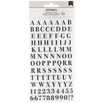 American Crafts - Stickers - Alphabet - San Serif - Clear