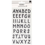 American Crafts - Epoxy Stickers - Alphabet - Black