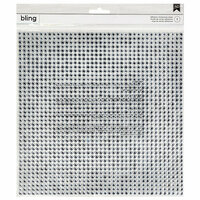 American Crafts - Bling Stickers - Rhinestones - Round - Silver - 10 x 10