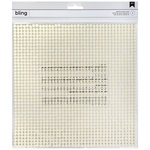 American Crafts - Bling Stickers - Pearl - 10 x 10