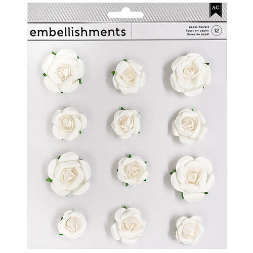 American Crafts - Paper Flowers - White
