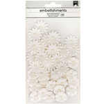 American Crafts - Paper Flowers - Off White