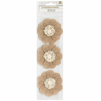 American Crafts - Burlap Flowers