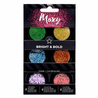 American Crafts - Moxy Glitter - Pot Set - Bright and Bold - 6 Pack