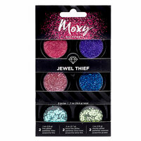 American Crafts - Moxy Glitter - Pot Set - Jewel Thief - 6 Pack