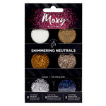 American Crafts - Moxy Glitter - Pot Set - Shimmering Neutrals - 6 Pack