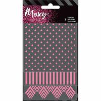 American Crafts - Moxy Glitter - Stencils - Square
