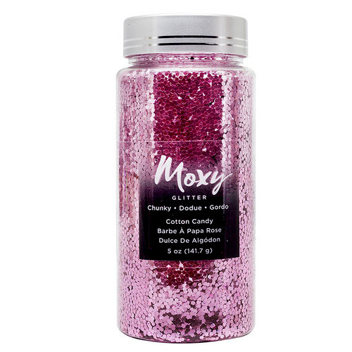 American Crafts - Moxy Glitter - Chunky - Cotton Candy - 5 Ounces