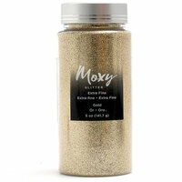 American Crafts - Moxy Glitter - Extra Fine - Gold - 5 Ounces
