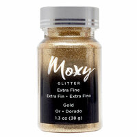 American Crafts - Moxy Glitter - Extra Fine - Gold - 1.3 Ounces