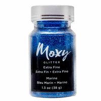 American Crafts - Moxy Glitter - Extra Fine - Marine - 1.3 Ounces