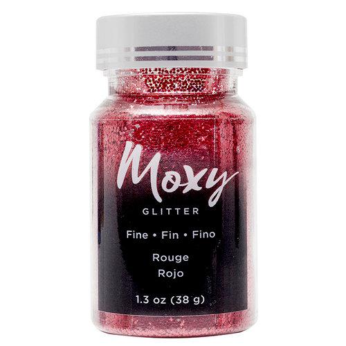 American Crafts - Moxy Glitter - Fine Glitter - Rouge - 1.3 Ounces