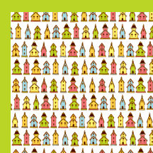 American Crafts - Backyard Collection - 12 x 12 Double Sided Paper - Cuckoo, CLEARANCE