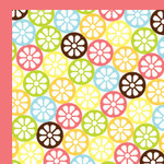 American Crafts - Backyard Collection - 12 x 12 Double Sided Paper - Slurp, CLEARANCE