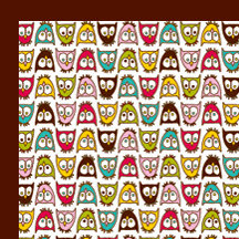 American Crafts - Craft Fair Collection - 12 x 12 Double Sided Paper - Lucy Hootski, CLEARANCE