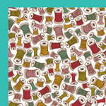 American Crafts - Craft Fair Collection - 12 x 12 Double Sided Paper - Lola Threadgood, CLEARANCE