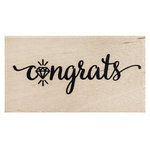 American Crafts - Wood Mounted Stamps - Congrats