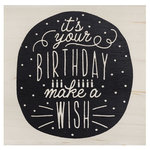 American Crafts - Wood Mounted Stamps - Birthday Wish