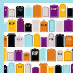 American Crafts - Halloween Collection - 12 x 12 Double Sided Paper - Undead, CLEARANCE