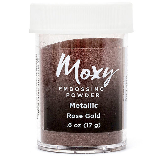 American Crafts - Moxy Embossing Powder - Metallic - Rose Gold - .6 Ounce