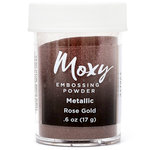 American Crafts - Moxy Embossing Powder - Metallic - Rose Gold - 1 Ounce