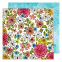 American Crafts - Field Notes Collection - 12 x 12 Double Sided Paper - Among the Wildflowers