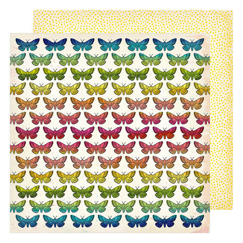 American Crafts - Field Notes Collection - 12 x 12 Double Sided Paper - Take Flight