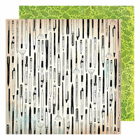 American Crafts - Field Notes Collection - 12 x 12 Double Sided Paper - Field Notes