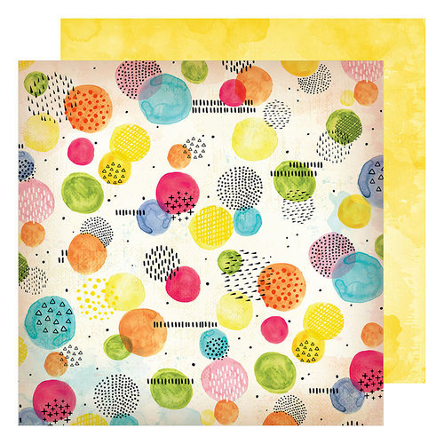 American Crafts - Field Notes Collection - 12 x 12 Double Sided Paper - Abstract Moments