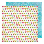 American Crafts - Field Notes Collection - 12 x 12 Double Sided Paper - Happy Heart