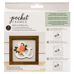 American Crafts - Details 2 Enjoy Collection - Pocket Frames Kit - 6 x 5.5 - Do-It-Yourself - Ampersand