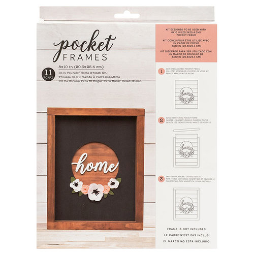 American Crafts - Details 2 Enjoy Collection - Pocket Frames Kit - 8 x 10 - Do-It-Yourself - Home Wreath