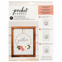 American Crafts - Details 2 Enjoy Collection - Pocket Frames Kit - 8 x 10 - Do-It-Yourself - Gather Wreath