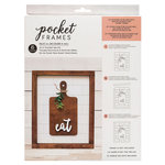 American Crafts - Details 2 Enjoy Collection - Pocket Frames Kit - 8 x 10 - Do-It-Yourself - Eat