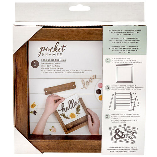 American Crafts - Details 2 Enjoy Collection - Pocket Frames - 6 x 5.5 - Stained