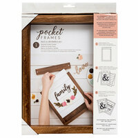 American Crafts - Details 2 Enjoy Collection - Pocket Frames - 8 x 10 - Stained