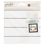 American Crafts - Details 2 Enjoy Collection - Pocket Frames - Reversible Insert - 6 x 5.5 - Shiplap and Brick