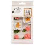 American Crafts - Details 2 Enjoy Collection - Pocket Frames - Felt Flowers - Style 1