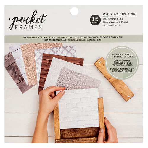 American Crafts - Details 2 Enjoy Collection - Pocket Frames - Background Pad - 6 x 6