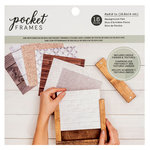 American Crafts - Details 2 Enjoy Collection - Pocket Frames - Background Pad - 6 x 6