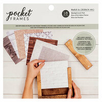 American Crafts - Details 2 Enjoy Collection - Pocket Frames - Background Pad - 6 x 6 - 15 Pieces